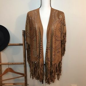 Choies Boho Shaw with Fringe Hemline.